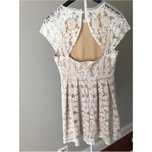 White lace Francesca's Dress Bridal Shower